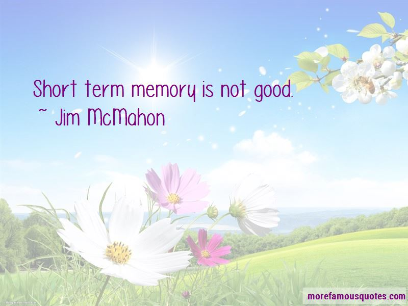 Quotes About Short Term Memory