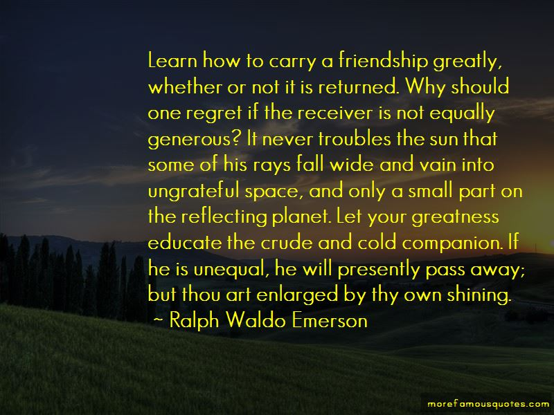 Quotes About Unequal Friendship