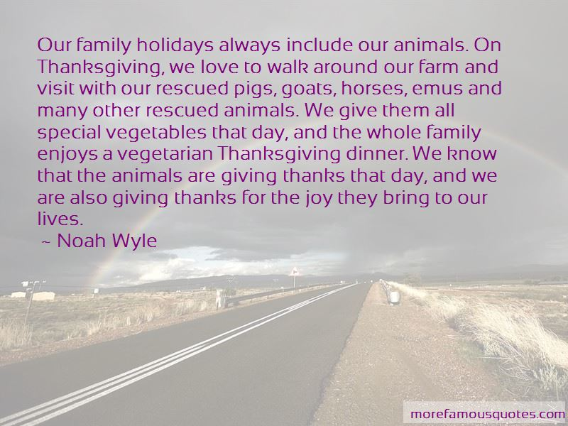 Quotes About Vegetarian Thanksgiving