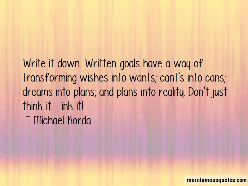 Quotes About Written Goals