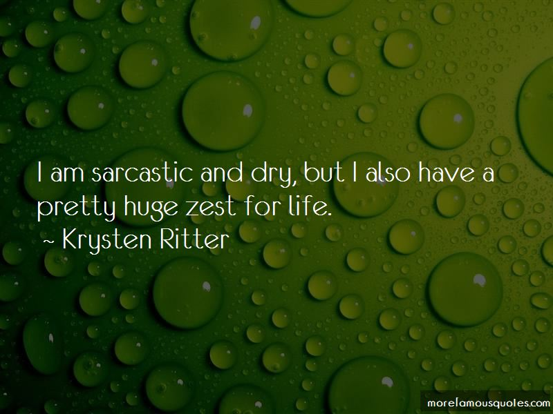 Quotes About Zest For Life