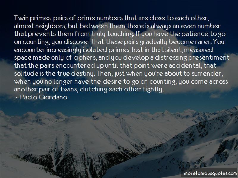 Solitude Prime Numbers Quotes