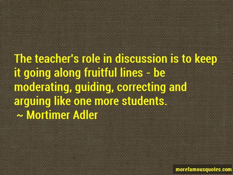 Teacher's Role Quotes