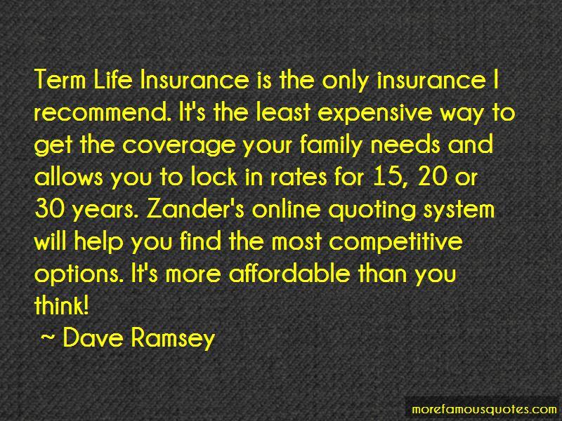 Term Life Insurance Quotes. U201c
