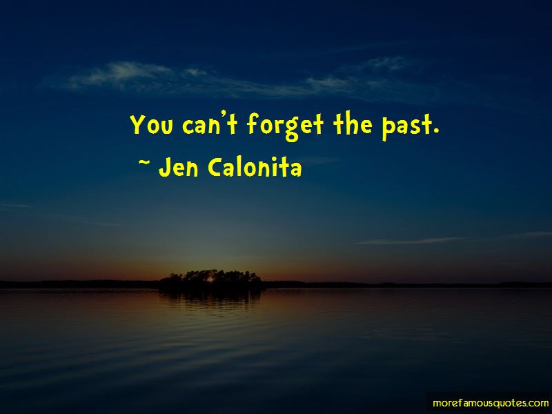 You Can't Forget The Past Quotes