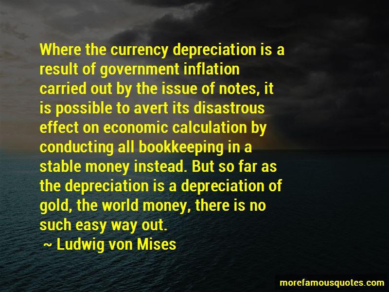 Currency Depreciation Quotes