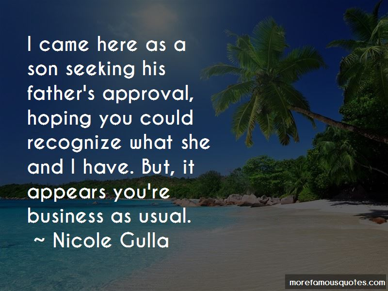 Father's Approval Quotes