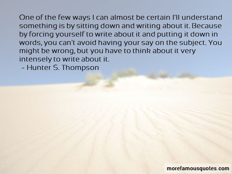 Forcing Yourself Quotes