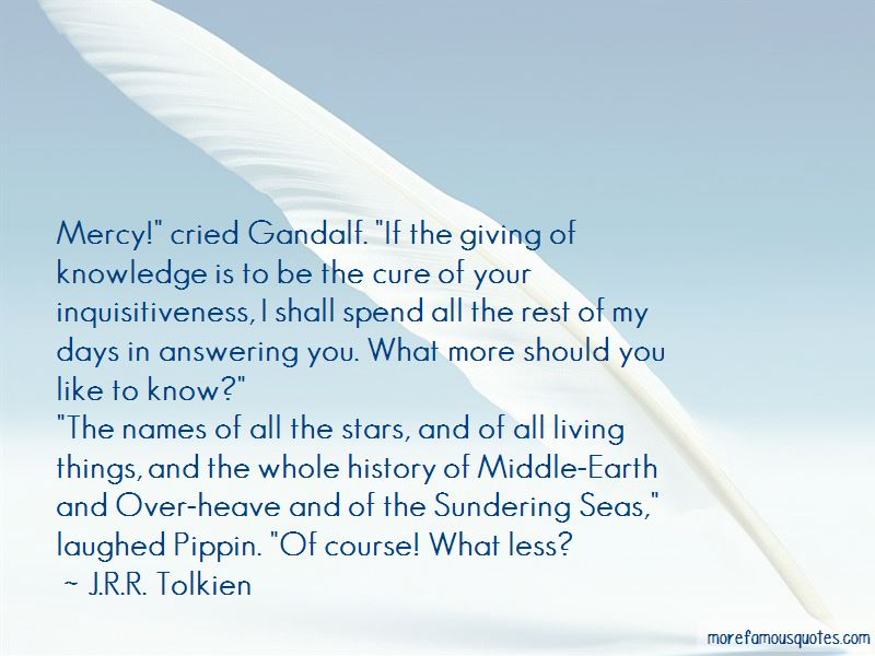 Gandalf To Pippin Quotes
