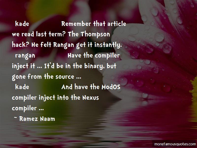 Into The Nexus Quotes
