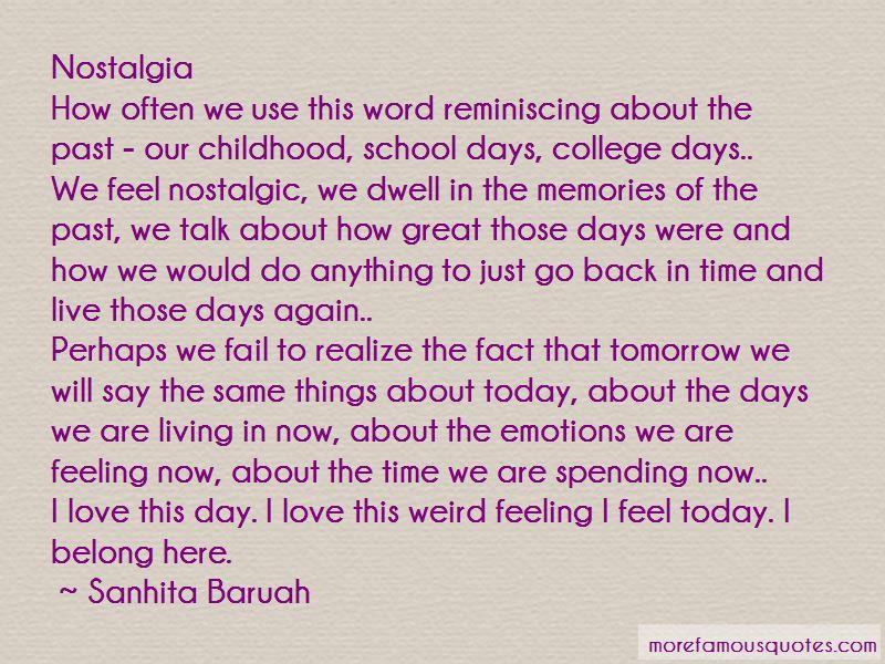 Memories Of My School Days Quotes