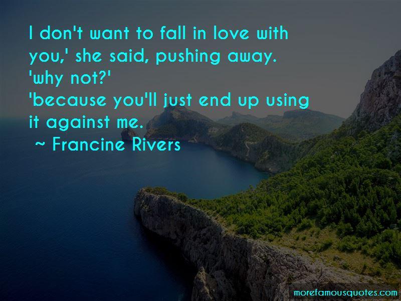 she pushed me away