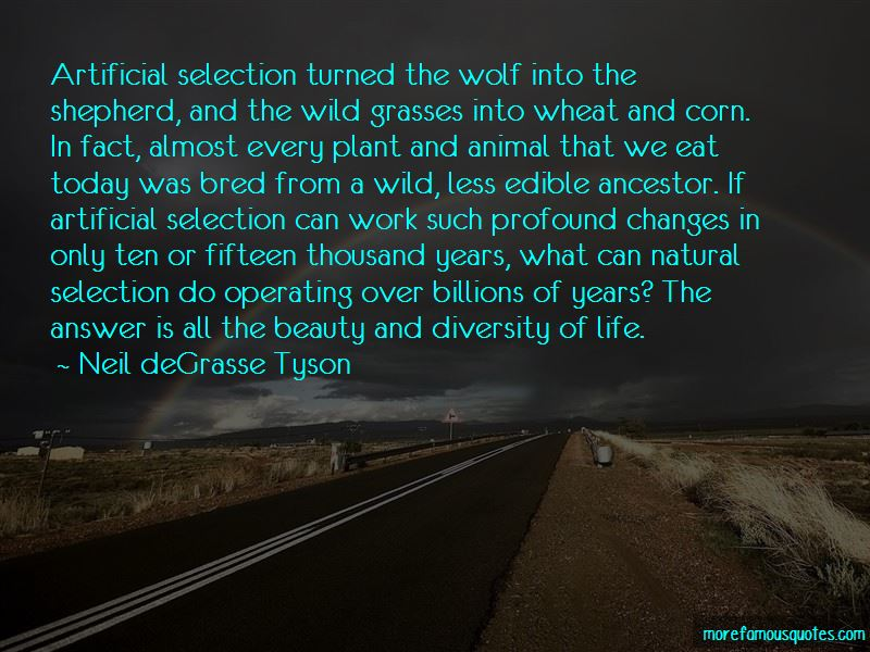 Quotes About Artificial Selection