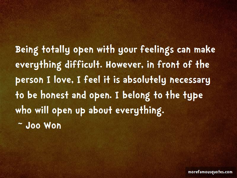 Being Honest About Your Feelings Quotes Pictures 2