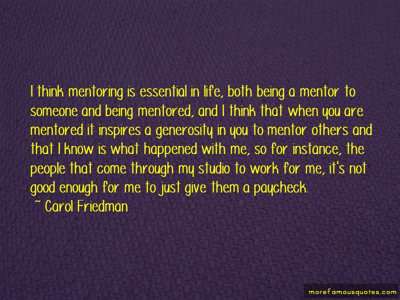 Quotes About Being Mentored