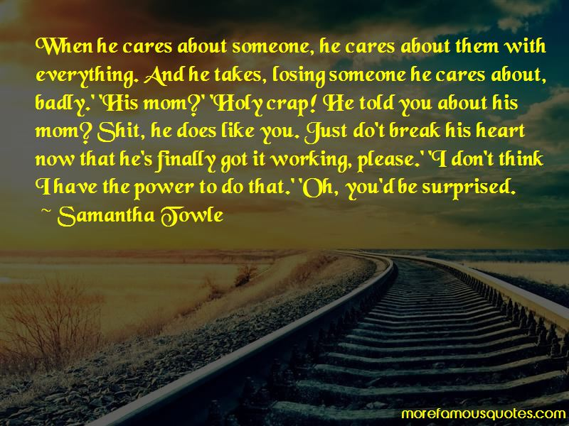 Quotes About Cares About Someone