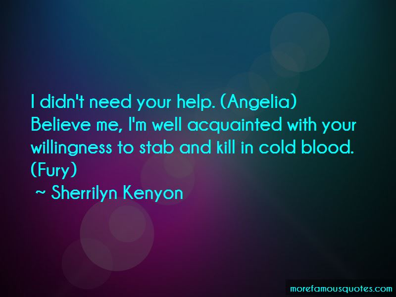 Cold Blood Quotes Pictures 4
