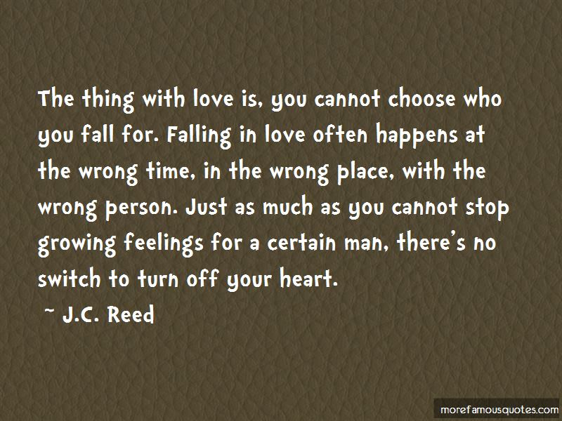 Quotes About Falling With The Wrong Person