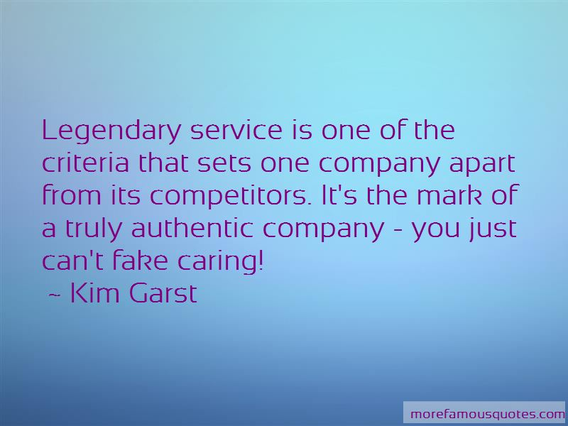 Quotes About Legendary Service