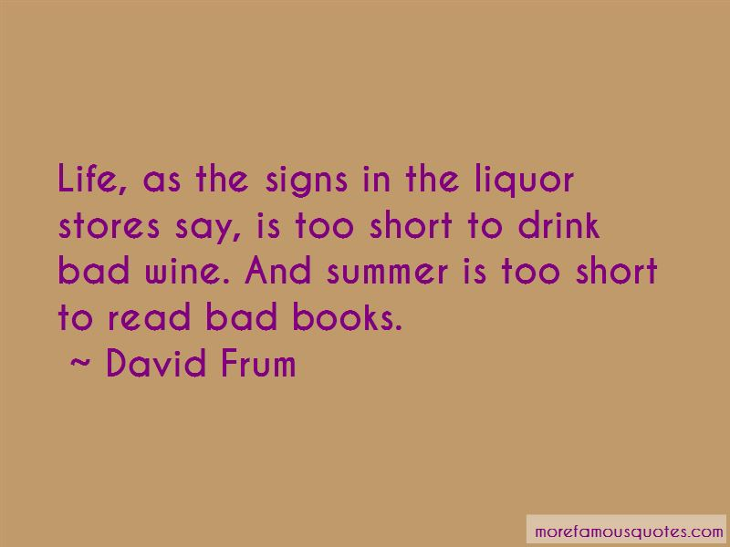 Quotes About Liquor Stores