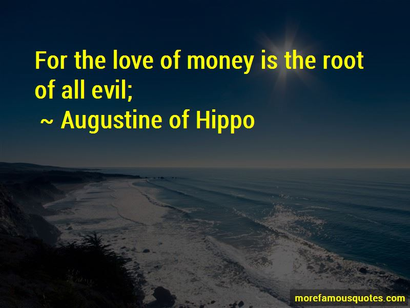 augustine quotes on evil