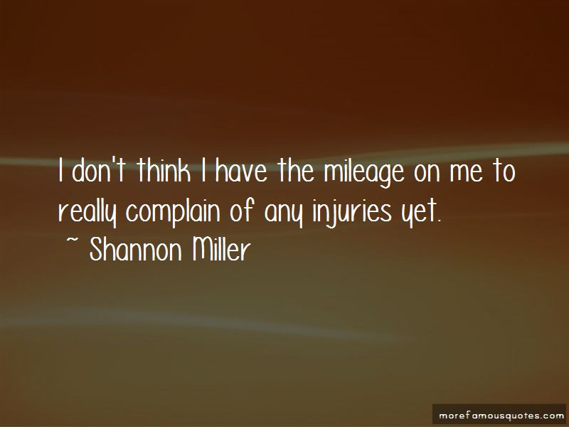 Quotes About Mileage
