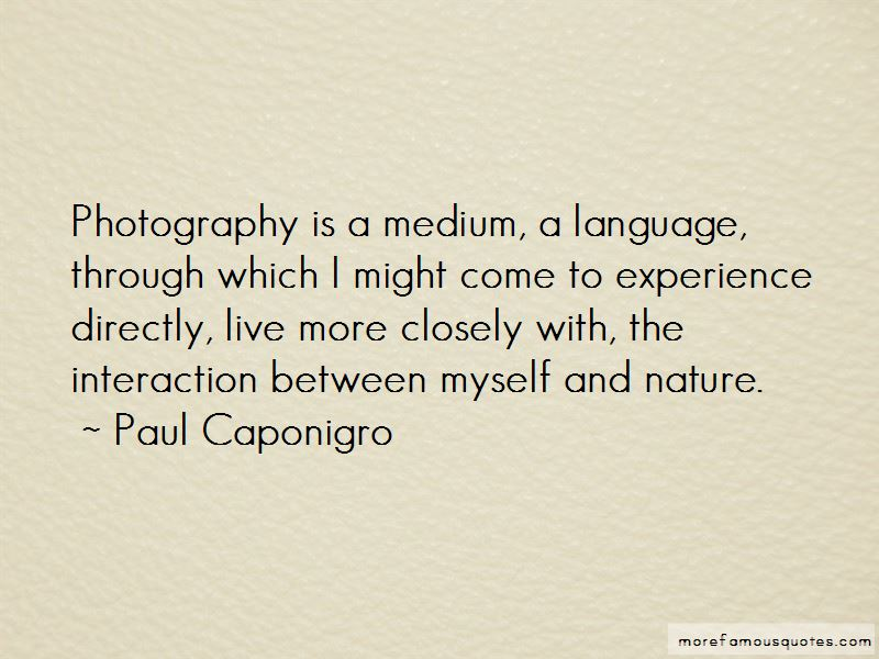 Quotes About Photography And Nature