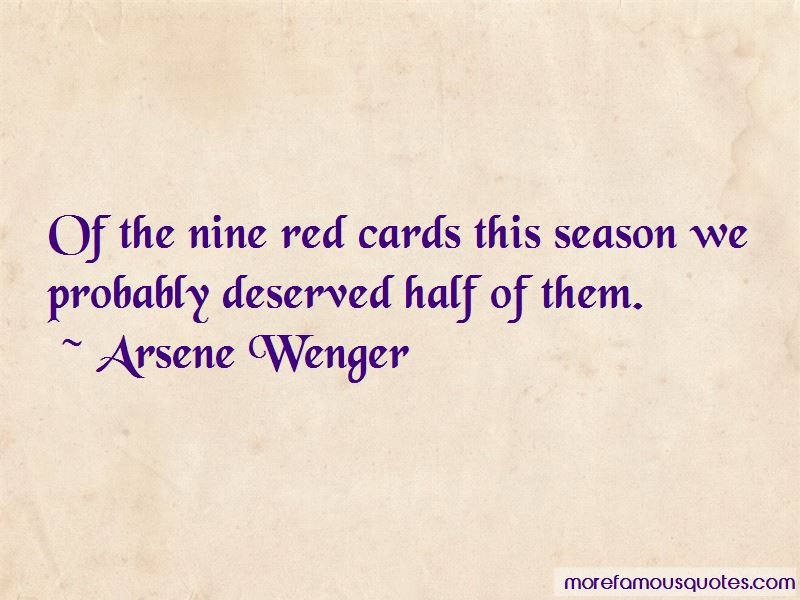 Quotes About Red Cards