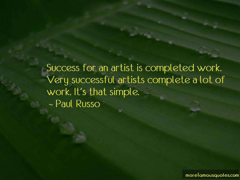 Quotes About Successful Artists