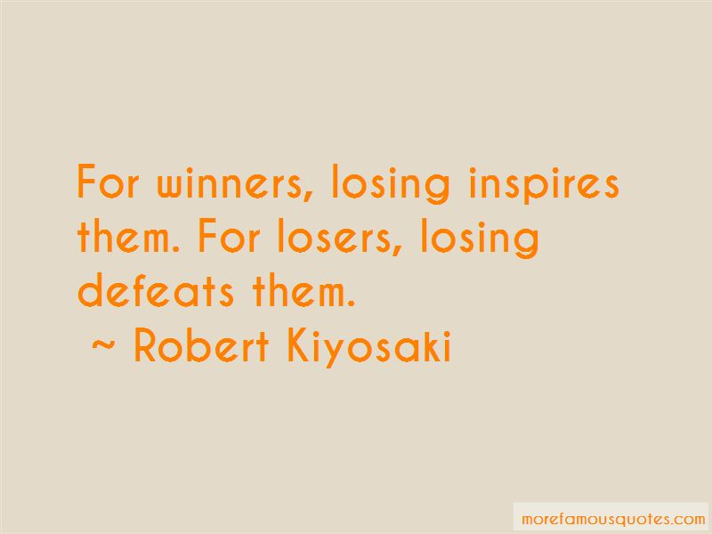 Quotes About Winners Losing