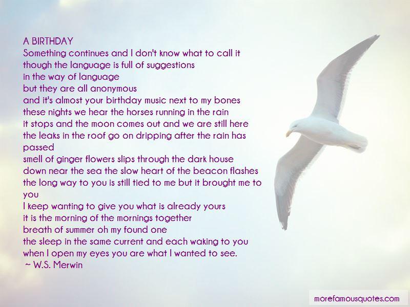 Rain On Your Birthday Quotes