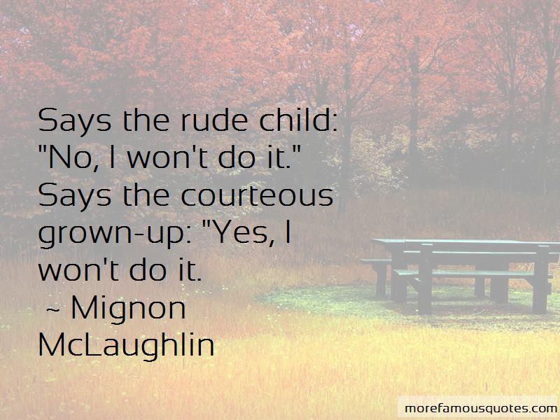 Rude Child Quotes