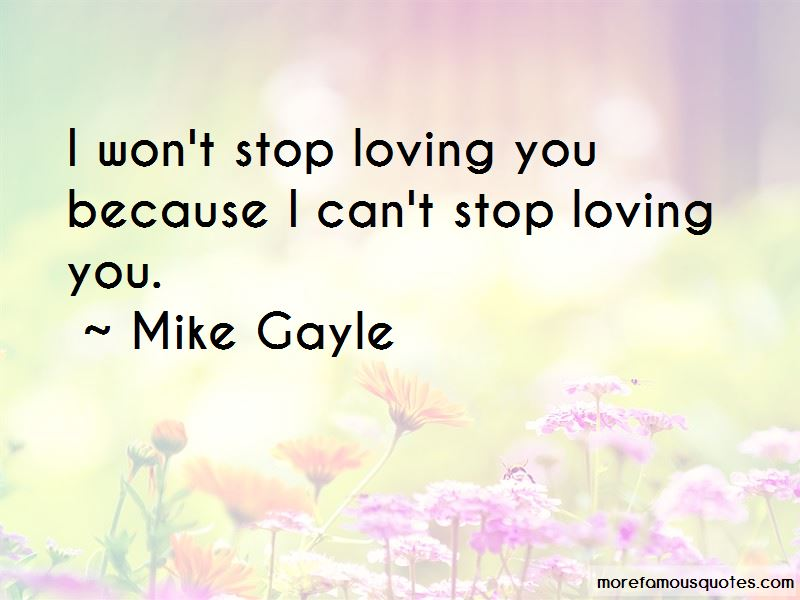 stop loving you
