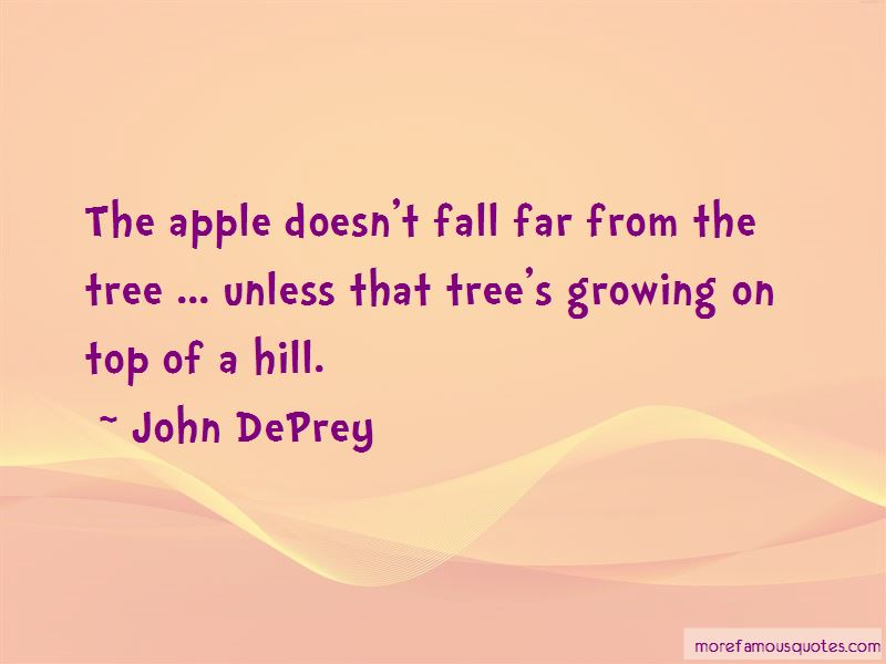 Apple On Top Of Tree Quotes