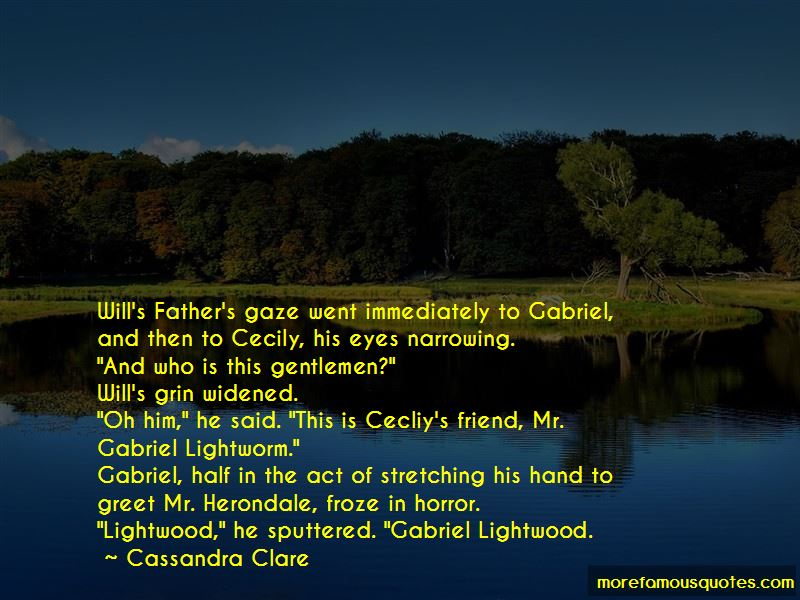 Cecily Herondale And Gabriel Lightwood Quotes Pictures 2