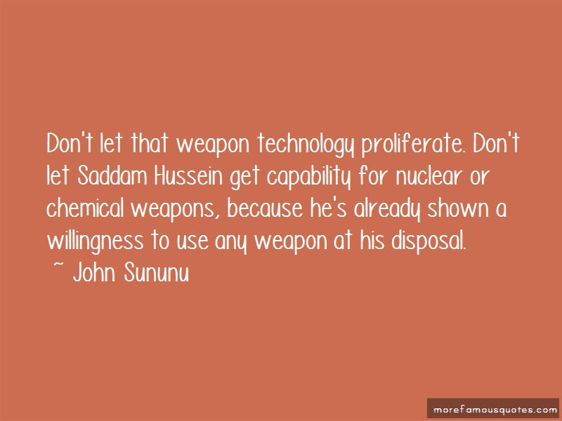 Chemical Weapon Quotes