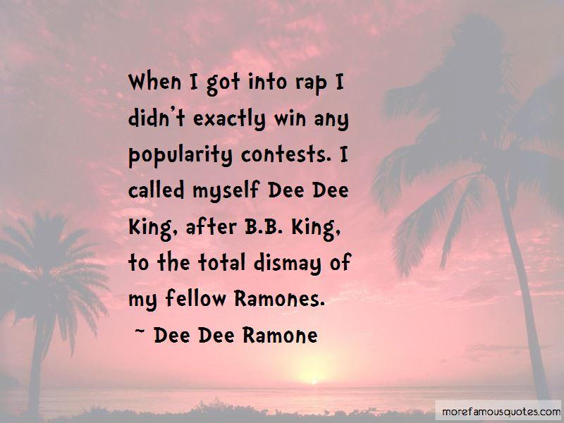 Dee Dee Ramones Quotes