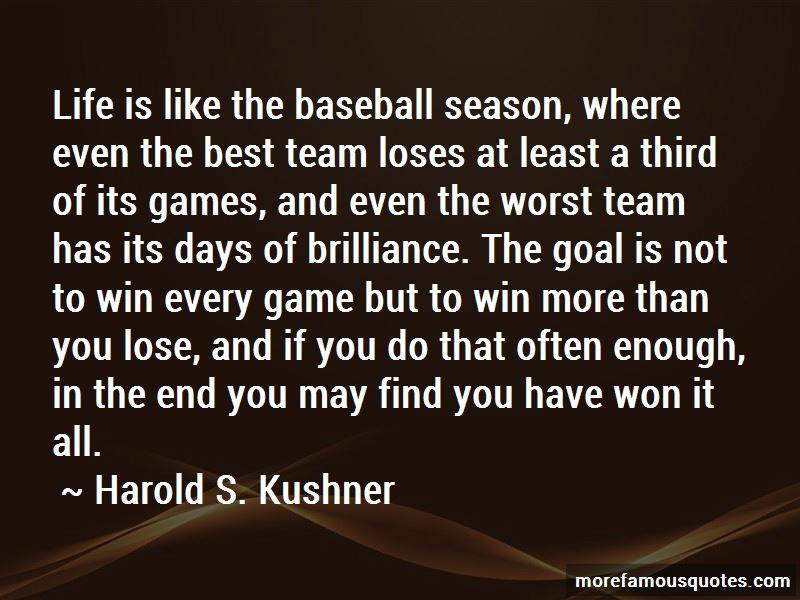 End Of Baseball Season Quotes