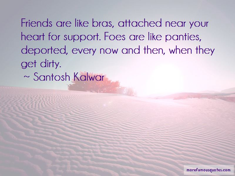 Friends Are Like Bras Quotes