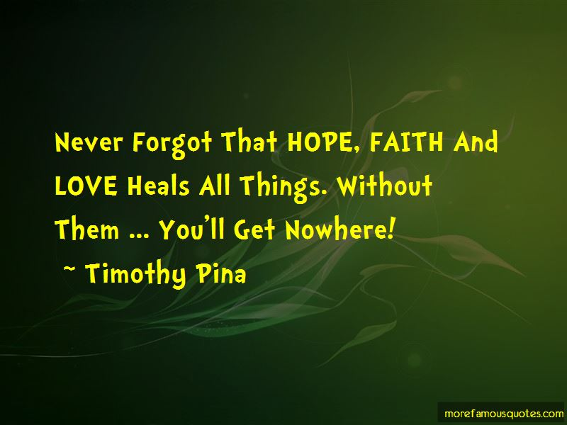 Hope Faith And Love Quotes