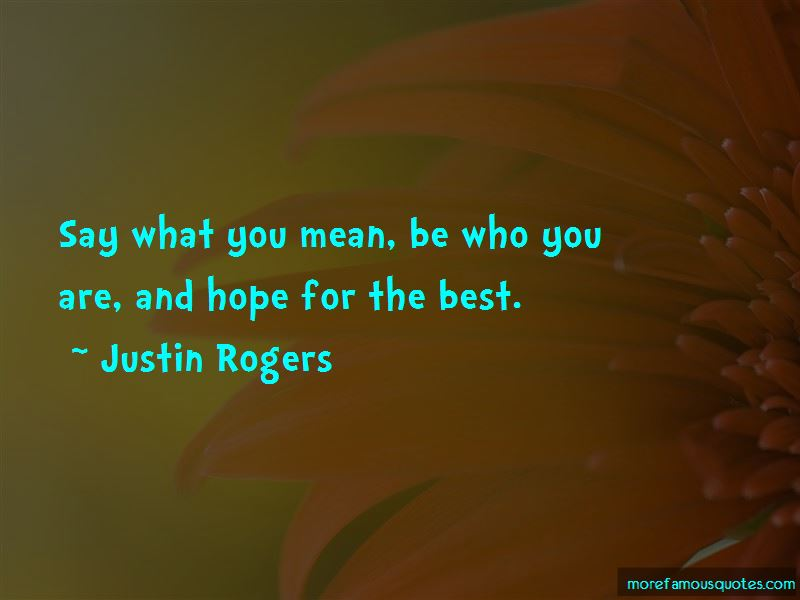 Hope The Best For You Quotes