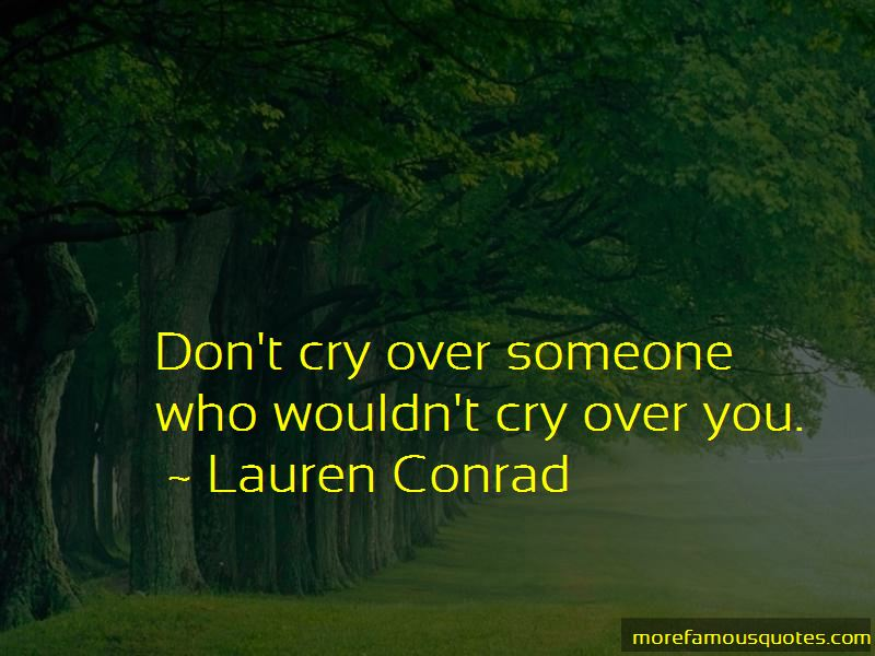 If I Cry Over You Quotes