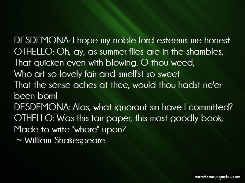 william shakespeare othello quotes