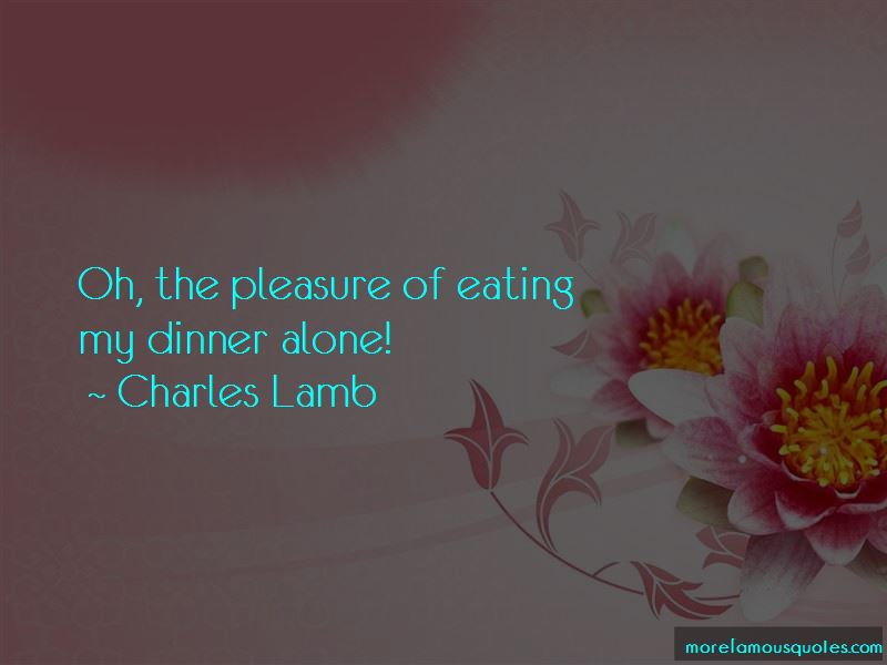 Quotes About Dinner Alone
