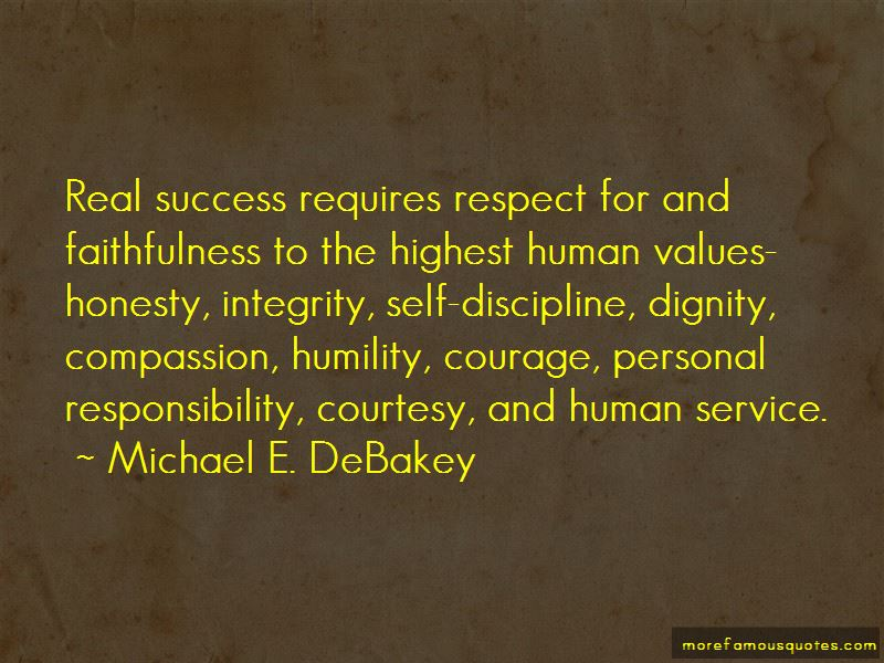 honesty humility and humanity