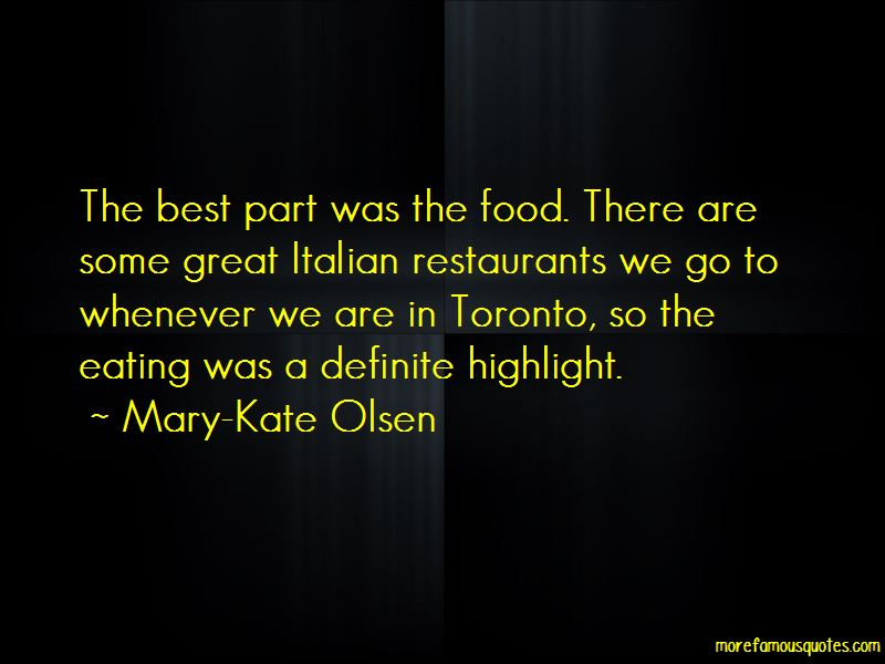 Quotes About Italian Restaurants