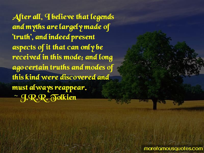 Quotes About Legends And Myths