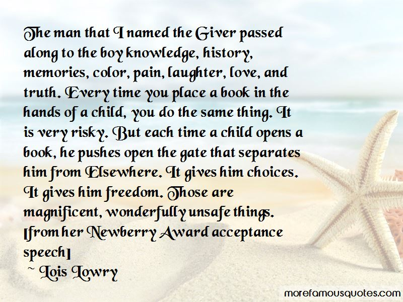 the giver speech about a