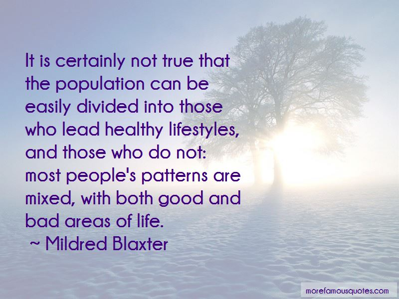 Quotes About People's Patterns
