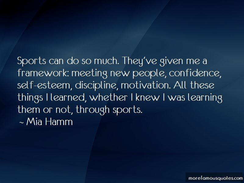 Quotes About Self Confidence In Sports